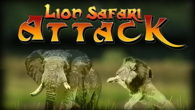 Lion Safari Attack poster
