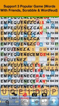 Español WWF Scrabble Wordfeud Cheat poster