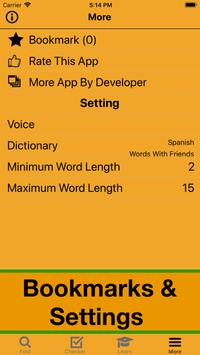 Español WWF Scrabble Wordfeud Cheat apk screenshot