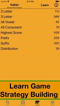 Italiano Scrabble WWF Wordfeud Cheat screenshot 3