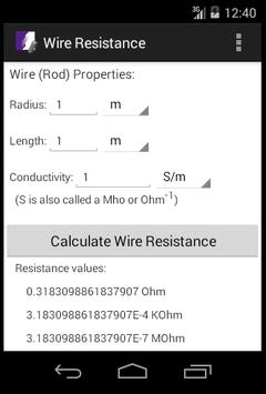 Wire resistance calculator apk download free tools app for android wire resistance calculator poster wire resistance calculator apk screenshot greentooth