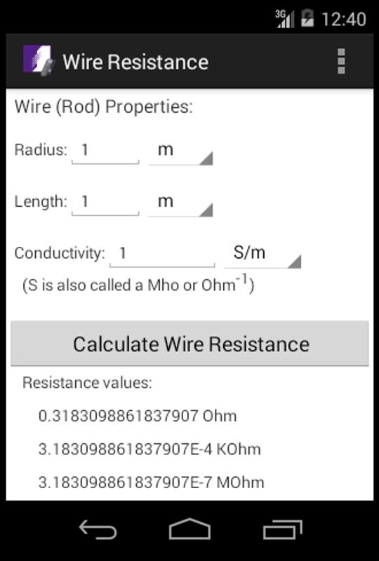 Wire resistance calculator apk download free tools app for android wire resistance calculator poster wire resistance calculator apk screenshot greentooth Image collections