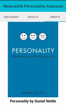 Newcastle Personality Assessor screenshot 4