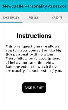Newcastle Personality Assessor poster