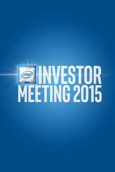 Intel® Investor Meeting poster