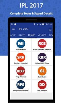 IPL 2017 Schedule apk screenshot