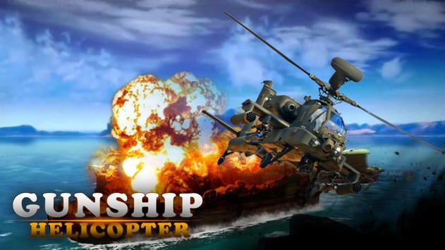 Gunship Army Helicopter War 3D poster