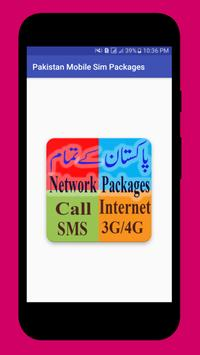 Pakistan Mobile Sim Packages poster