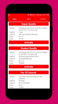 Pakistan Mobile Sim Packages screenshot 1