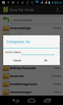 Easy Zip-Unzip screenshot 3