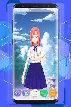 Anime Schoolgirl Interactive Live Wallpaper screenshot 8