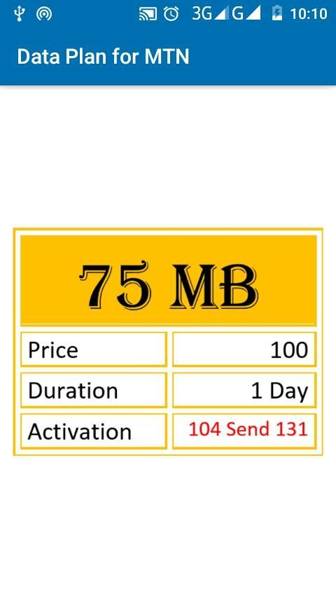 Data Plan for MTN for Android - APK Download