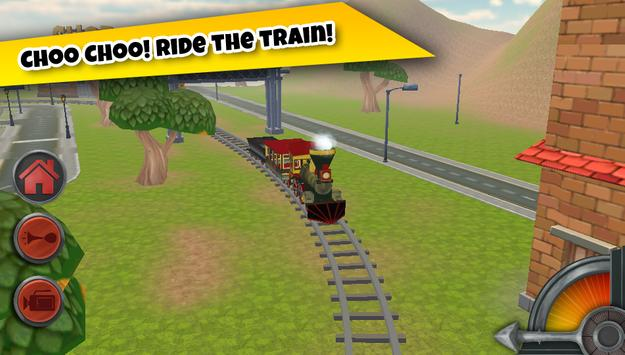 3D Train Game For Kids - Free Vehicle Driving Game poster
