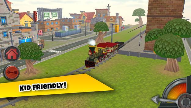3D Train Game For Kids - Free Vehicle Driving Game screenshot 2