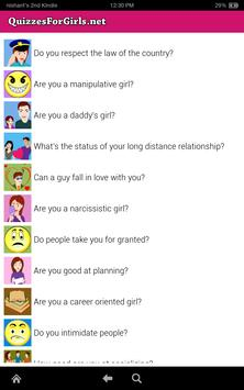 Quizzes For Girls screenshot 7