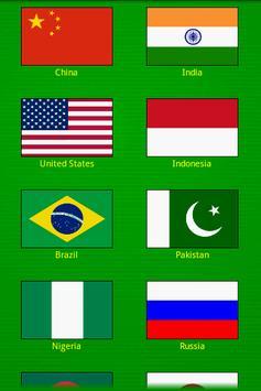 Identify the World Flags Game apk screenshot