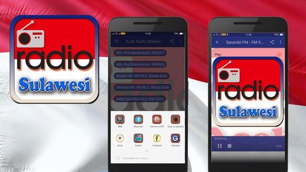 Sulawesi FM Radio Station Indonesia poster