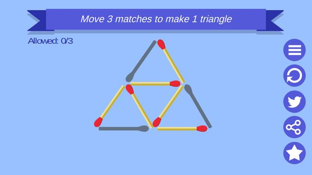 Matchstick Game Puzzle poster