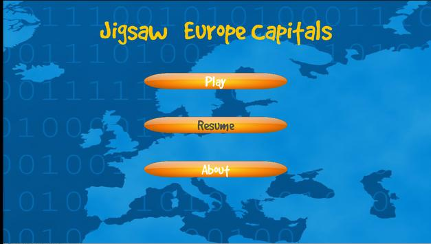 Jigsaw Puzzles Europe Capitals poster