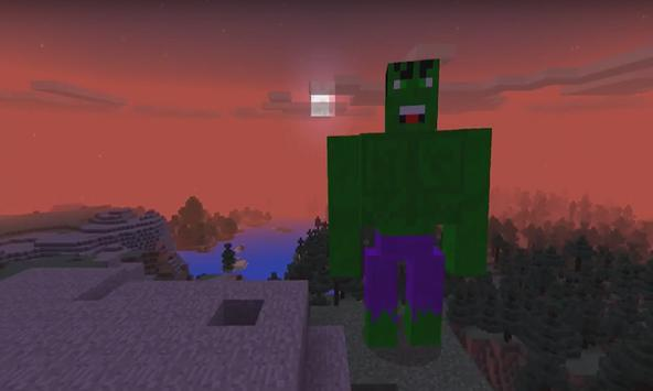 Addon Hulk for MCPE poster