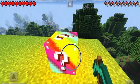 New Addon Rainbow Lucky Block for MCPE apk screenshot