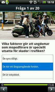 Teoriprovet Moped lite screenshot 2
