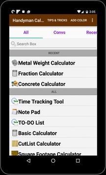 Handyman calculator apk download free productivity app for android handyman calculator apk screenshot greentooth Image collections