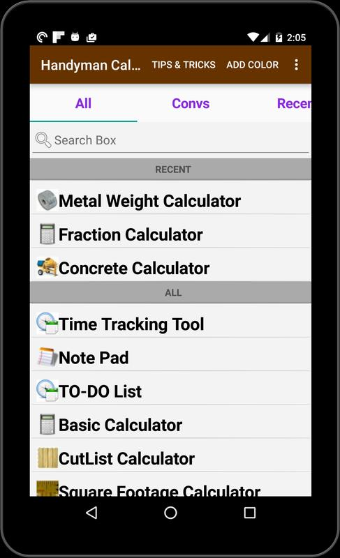 Handyman calculator for android apk download.