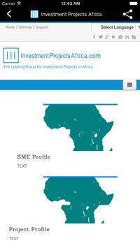 Investment Projects Africa apk screenshot