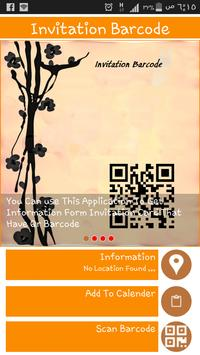 invitation barcode apk screenshot