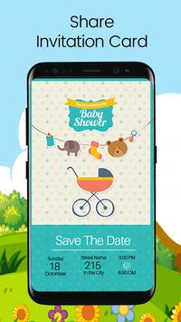 Baby shower invitation card editor para android apk baixar baby shower invitation card editor imagem de tela 5 stopboris Images