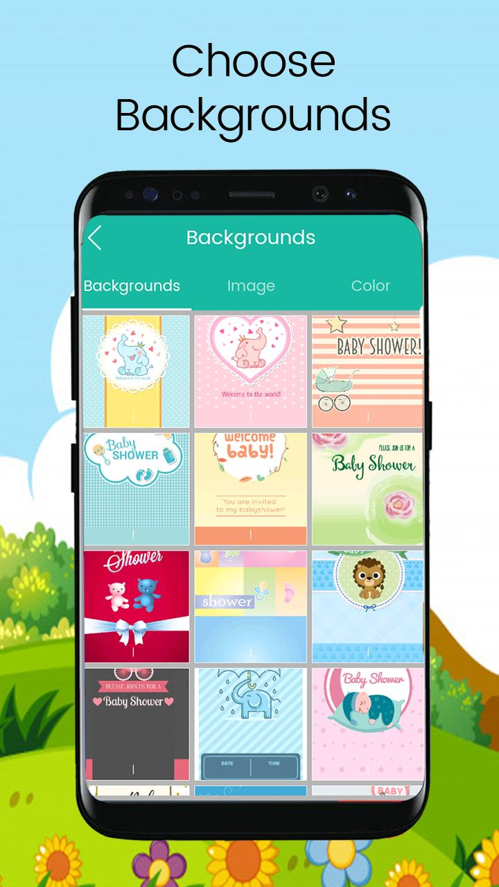 Baby Shower Invitation Card Editor For Android Apk Download