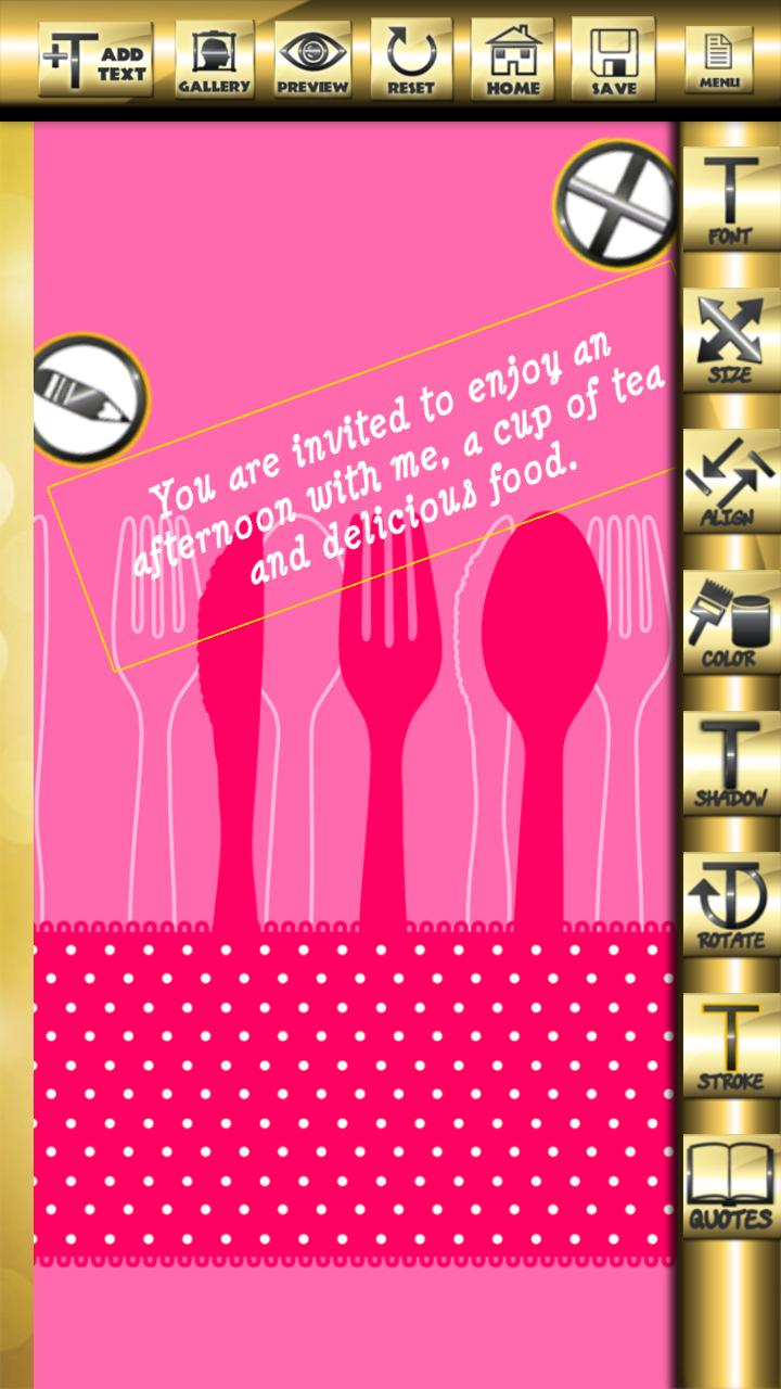 Tarjetas De Invitación Para La Cena For Android Apk Download