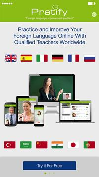 Pratify - Learn new languages poster