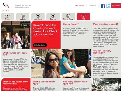 QTAC Course Information apk screenshot