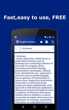 English Explanatory Dictionary - Words Definitions poster