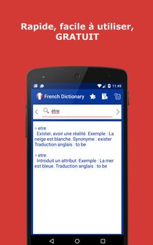 French Explanatory Dictionary. Words definitions poster