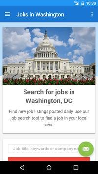 Jobs in Washington, DC, USA poster