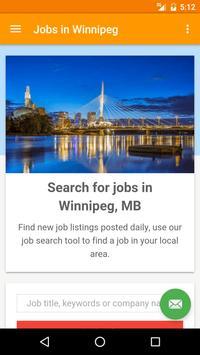 Jobs in Winnipeg, Canada poster