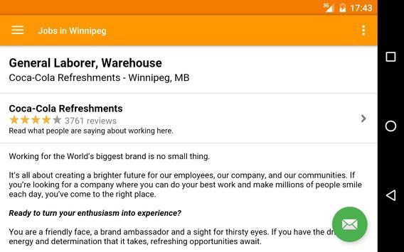 Jobs in Winnipeg, Canada apk screenshot