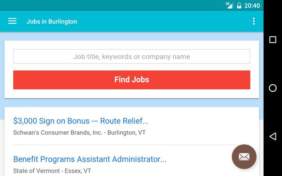 Jobs in Burlington, VT, USA apk screenshot