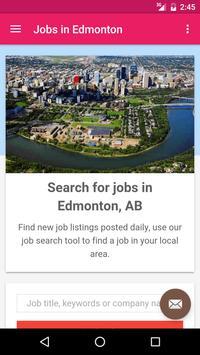 Jobs in Edmonton, Canada poster