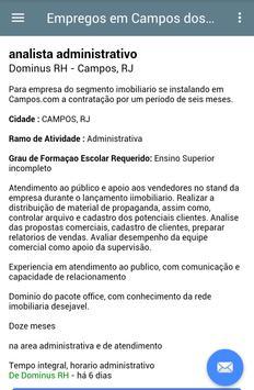 Empregos Campos dos Goytacazes screenshot 3