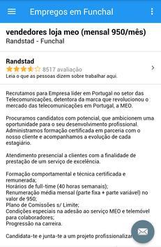 Empregos em Funchal screenshot 3