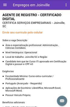 Empregos em Joinville, Brasil screenshot 3