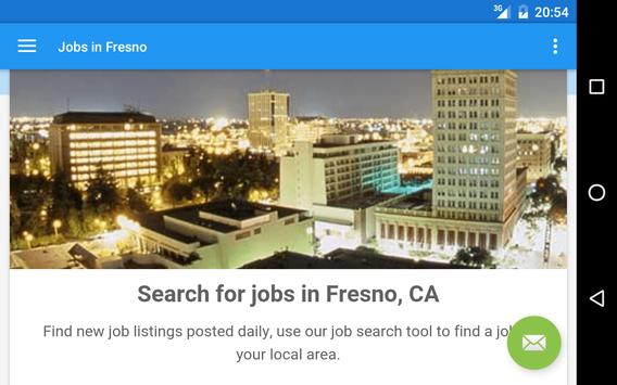 Jobs in Fresno, CA, USA apk screenshot