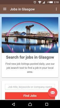 Jobs in Glasgow, UK poster