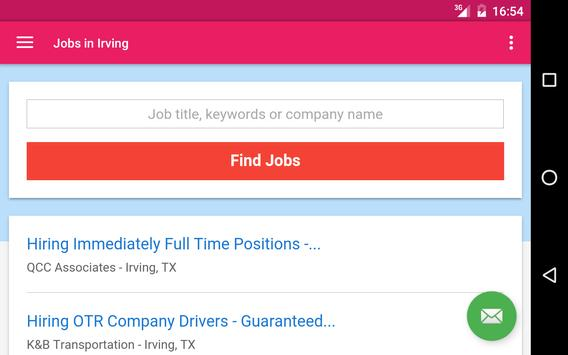 Jobs in Irving, TX, USA apk screenshot