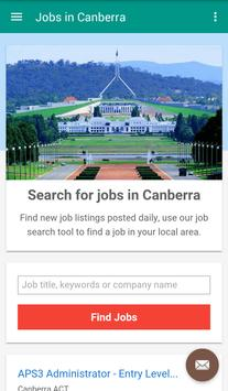 Jobs in Canberra, Australia poster