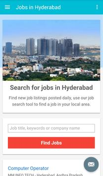 Jobs in Hyderabad, India poster
